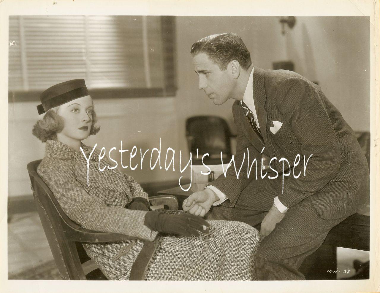 1937 Vintage Movie Photo Humphrey Bogart Bette Davis K495