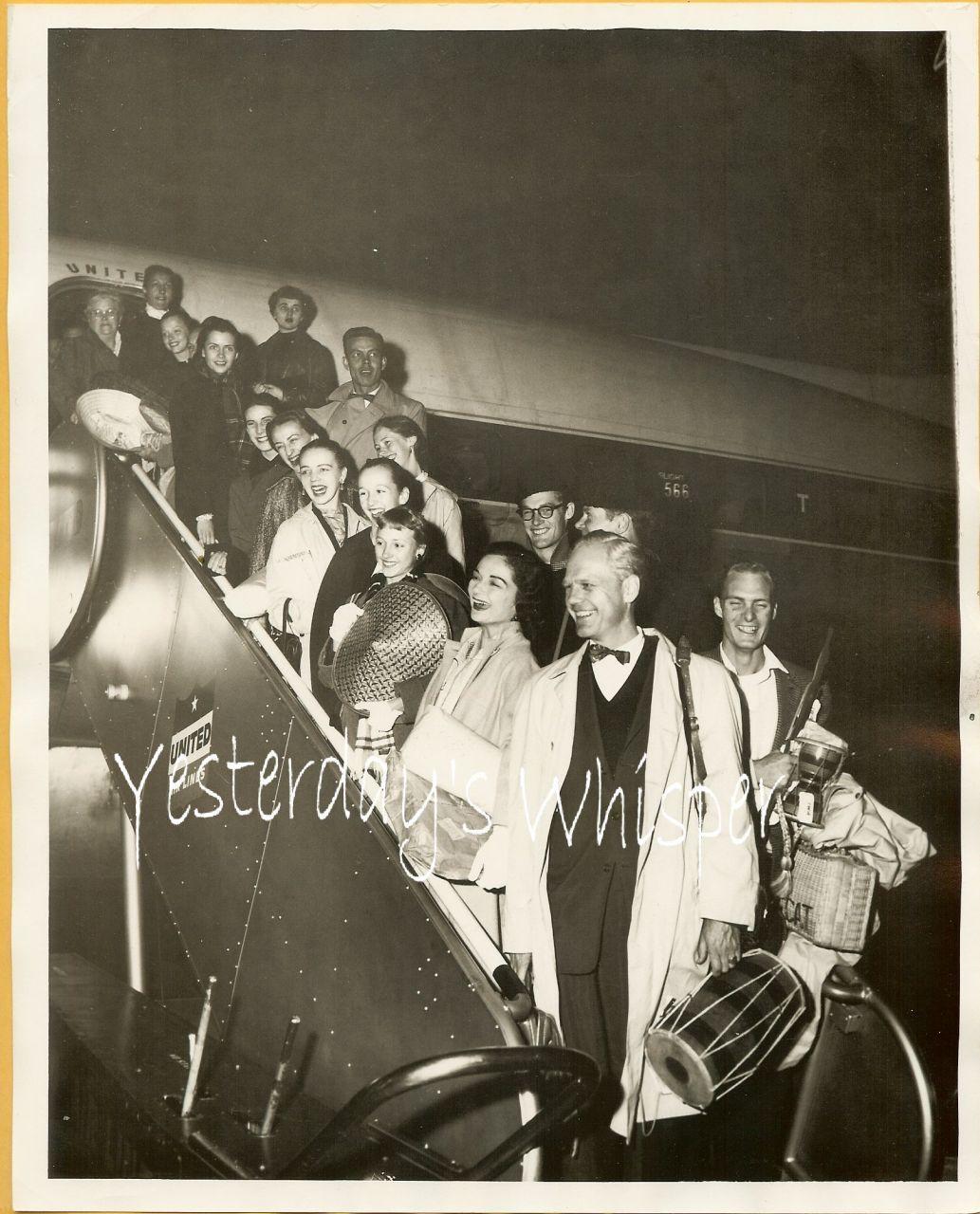 1950s PHOTO SF Ballet Lew Christensen Candid United Air