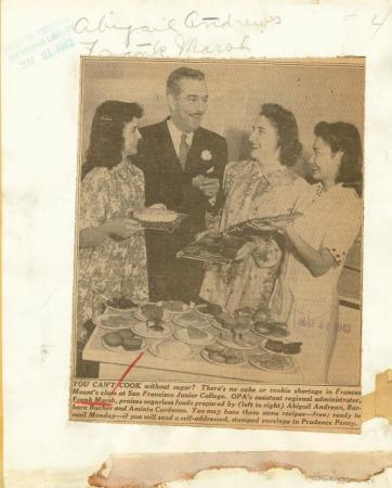 1940s Photo SF CA Junior College Retro Cooking Class K434