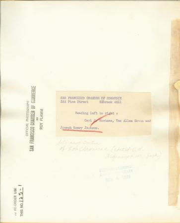 1945 Photo Joseph Henry Jackson SF CA Literary Critic K532