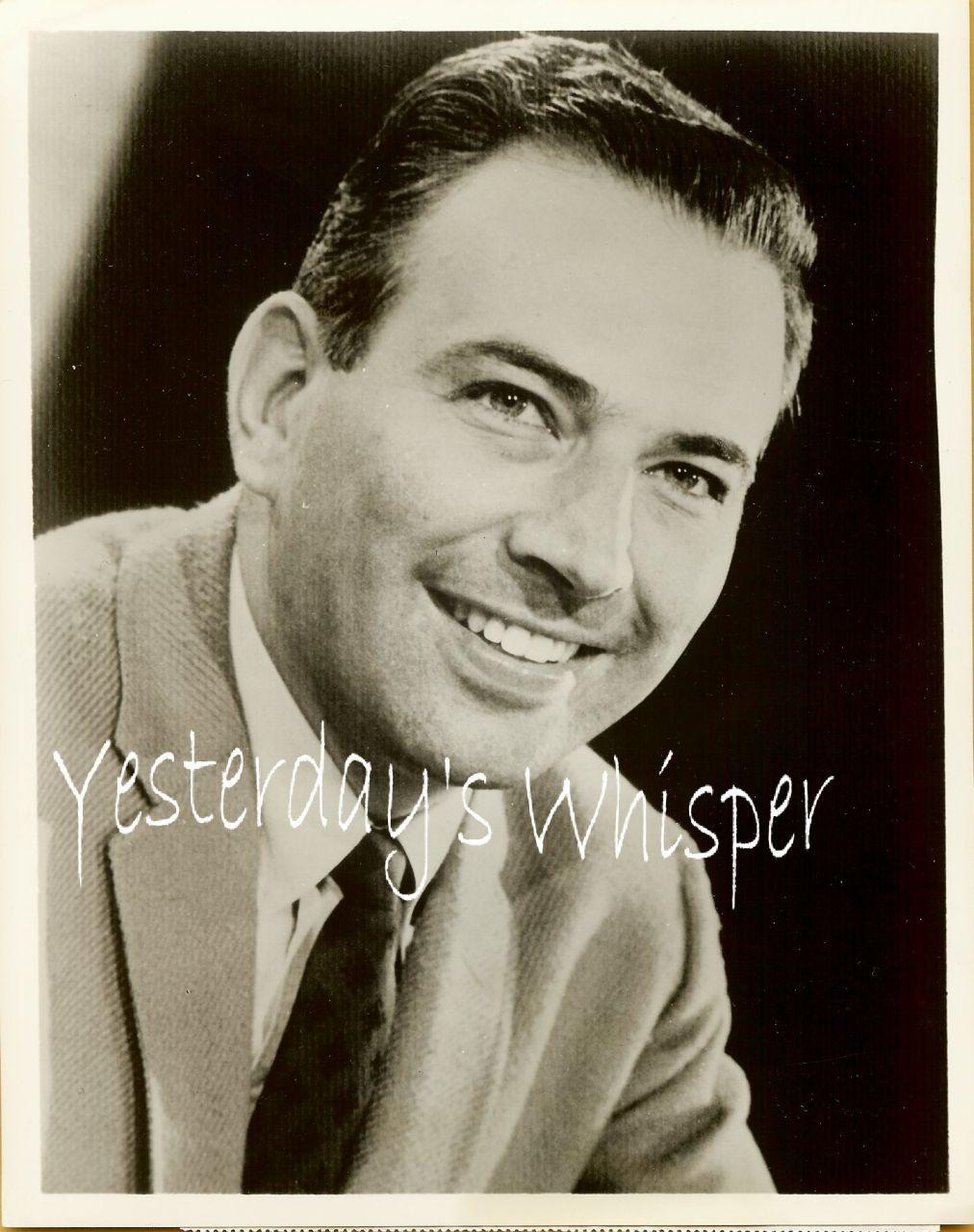 Bill Fleming Sports Broadcaster 1960 Original TV Photo