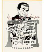1960 Rotman Ad Art TV PHOTO Marvin Miller Millionaire k450 - $19.99