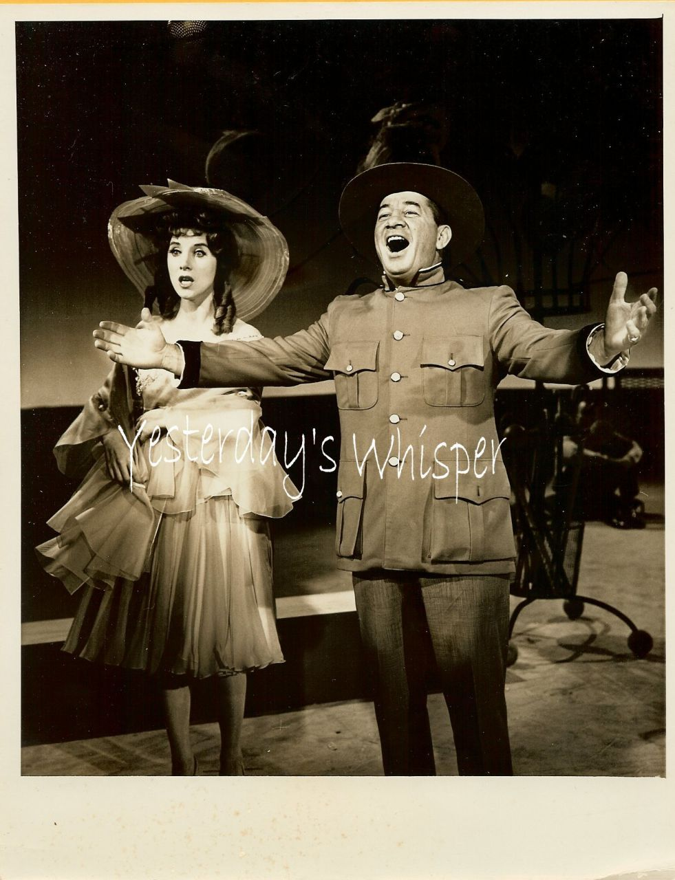 1960s UNKNOWN Singing Actor Actress TV Promo Photo K458