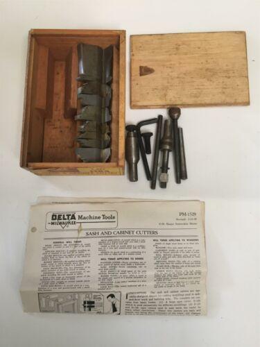 Vintage Delta Mfg Co. Milwaukee No. 1184 Sash & Cabinet Shaper Cutter Wood Box
