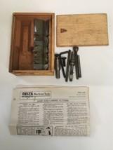 Vintage Delta Mfg Co. Milwaukee No. 1184 Sash & Cabinet Shaper Cutter Wood Box image 1