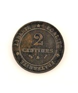 1894-A France 2 Centimes (VF+) Very Fine Plus Condition - $41.58