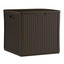 MRT SUPPLY 60 Gallon Resin Wicker Design Cube Shape Storage Deck Box, Ja... - $214.83