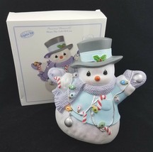 Precious Moments Snowman LED Light Up Decoration Christmas Share Gift Of... - $19.65