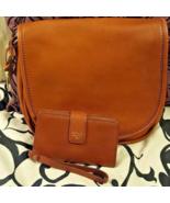 NWT Fossil Rumi Saddle Flap Brown Crossbody Handbag Purse with Clutch Wa... - $120.00