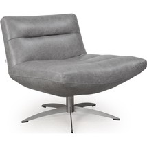 Moroni Alfio 286 Cloud Top Grain Leather Upholstery Mid-Century Swivel C... - $1,150.00