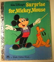 Vintage Walt Disney's Surprise For Mickey Mouse Little Golden Book 1974  - $6.94