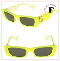 GUCCI 0516 Fluorescent Neon Green Pearl Geometric Sunglasses GG0516S Unisex - $267.30
