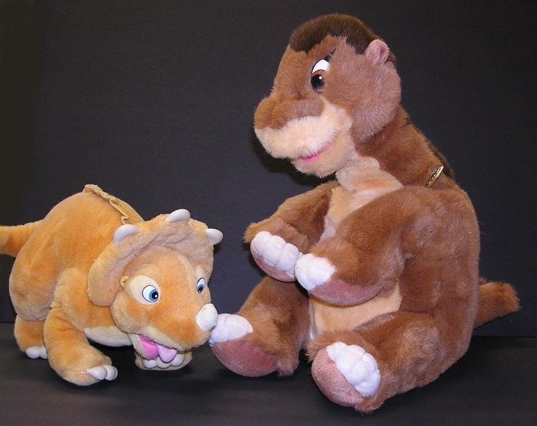 Vintage The Land Before Time Plush LITTLEFOOT & CERA JC Penney Exclusive Gund