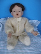 VINTAGE KATHY HIPPENSITEEL CHILD MARKED TD9931  ASHTON DRAKE PORCELAIN DOLL - $39.59