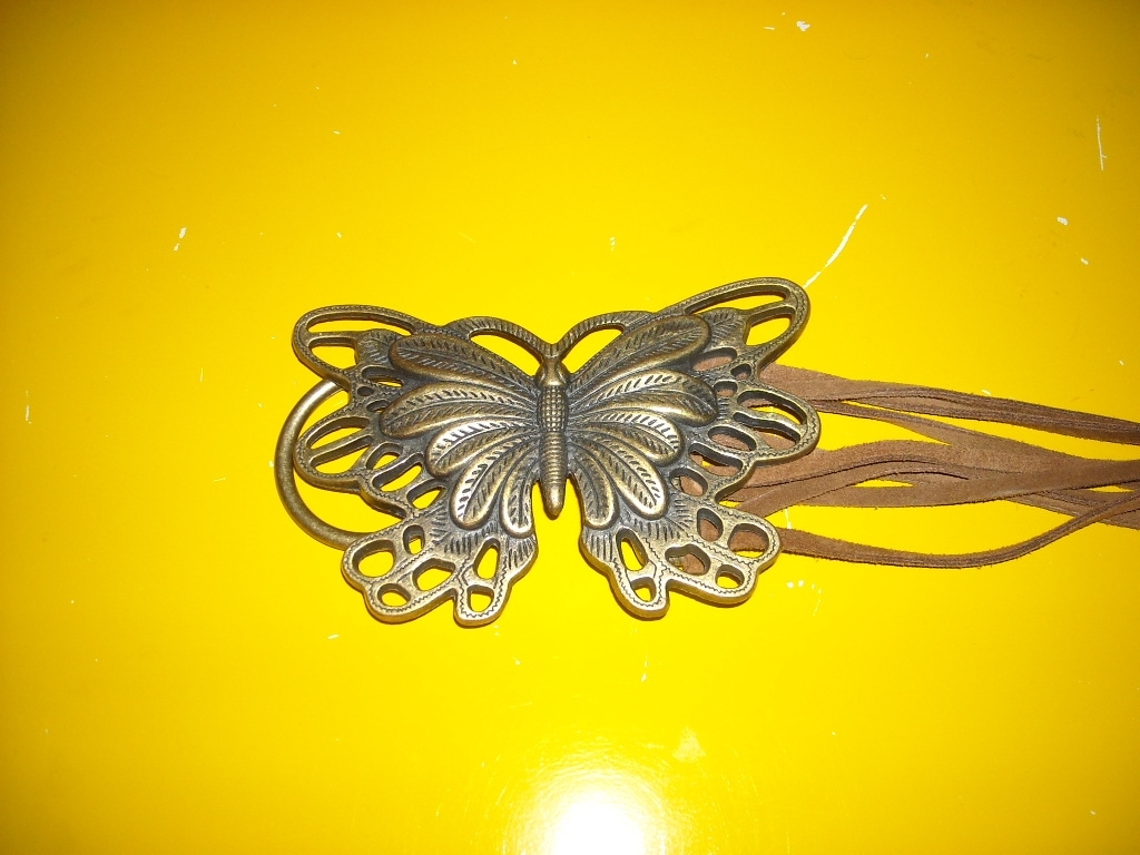 Butterfly Buckle on Suede Belt