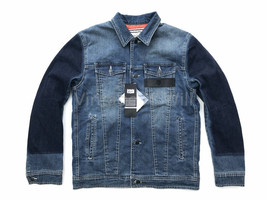 Onitsuka Tiger x Pompilio Mens Blue Denim Jean Quilted Trucker Jacket OK... - $160.55