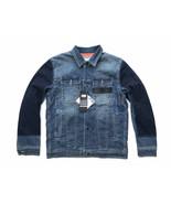 Onitsuka Tiger x Pompilio Mens Blue Denim Jean Quilted Trucker Jacket OK... - $160.55