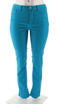 Denim & Co How Slimming Tall Straight Leg Jeans Summer Teal 28 NEW A272962 - $27.70