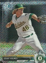 2017 BOWMAN CHROME MEGA BOX BCP45 GRANT HOLMES RC ATHLETICS FREE SHIPPING - $1.89