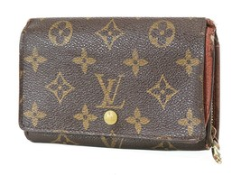 Authentic LOUIS VUITTON Monogram Long Wallet Zippered Coin Purse #9650 - $98.10