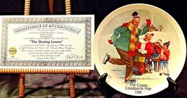 "1981 ""The Skating Lesson"" by Joseph Csatari with Box ( Knowles ) AA20-CP2170 Vin image 11"