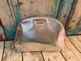 Victoria's Secret Silver Zippered Makeup Cosmetic Bag NEW - $9.49