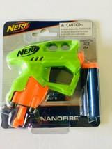 Hasbro Nerf N-Strike NanoFire Blaster Green w/ 3X Elite Darts Toy - $8.88