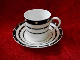 Haviland Voilette black demitasse cup and saucer - $9.85