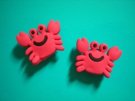 Clog Shoe Charm Plug Button For Accessories For Wristband Red Crabs - $6.99