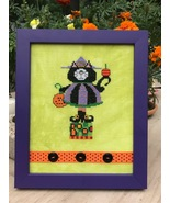 Kitty Witch Halloween Scaredy Cat cross stitch chart Amy Bruecken Designs - $6.00
