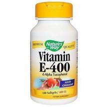 Natures Way Vitamin E 400 Iu D Alpha Tocopherol 100 Kapseln - $24.88
