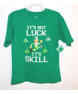 Walmart Boys It's Not Luck It's Skill Green T-S... - $8.59