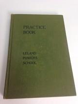 Practice Book Leland Powers School 1936 Hardcover Green Cloth Vintage Book - $29.40