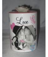 LOVE Kids Tea Light Holder Flower Pink Accents Blue Flowers Butterfly Ca... - $5.93