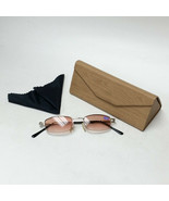 Sun Reader Glasses +3.00 Spring Temples w/ Fawn Faux Wood Foldable Case ... - $19.99