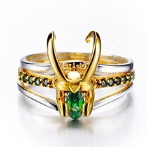2019 Latest Design Marvel Movie Charm Jewelry Ring 925 Silver Loki Ring ... - $82.47