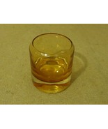 Designer Cocktail Glass 3 1/4in H x 3in Diameter Amber Glass - $13.20