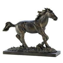 Accent Plus Horse Statue Decor, Rustic Stallion Figurines Horse Art Sculpture De - $31.99