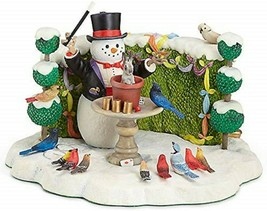 Lenox Bywaters Lighted Snowdini Magician Snowman Figurine Top Hat Rabbit NEW - $193.05