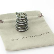 David Yurman Stax Cage Rings Darkened Sterling Diamond 1.09cts Rubies Sz... - $3,492.00