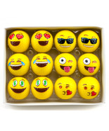 Yellow Smiley Face Novelty Practice Golf Balls Emoticon Sports Gifts 12 ... - $14.95