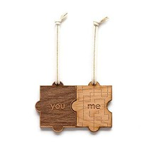You & Me Puzzle Piece Laser Cut Wood Ornament Christmas/Holiday/Personalized Ava