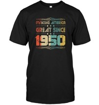 Retro Vintage 1950 Old School 68 Years Old Birthday T Shirt - $17.99+