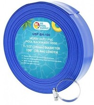 U.S. Pool Supply 1-1/2 X 100' Heavy Duty Blue PVC Swimming Pool Backwas... - $84.83
