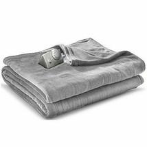 Biddeford Blankets Comfort Knit Heated Blanket (Full Dark Gray) - £33.37 GBP