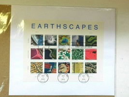 Earthscapes - collectible stamp set - FDC FP   item #470162 postmark Oct... - $27.99