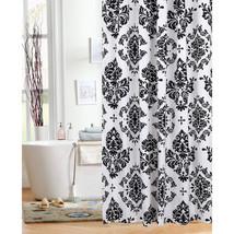 "Damask Elites Elegant Rich Black and White Fabric Shower Curtain, 70""x 7... - $17.98"