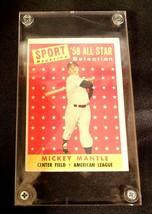 1958 Mickey Mantle Baseball Trading Card # 487 AA 19-BTC4003 Vintage Collectible image 2