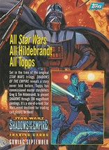 Star Wars trading cards 1996 Topps Shadows of the Empire oversize promo ... - $14.69
