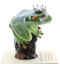Hagen-Renaker Miniature Tree Frog Figurine Birthstone Prince 12 December Zircon image 2